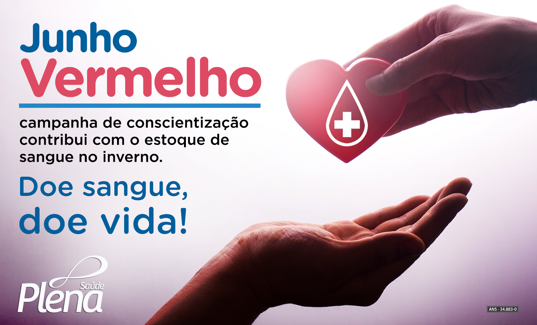 Junho Vermelho: campanha de conscientização contribui com o estoque de sangue no inverno