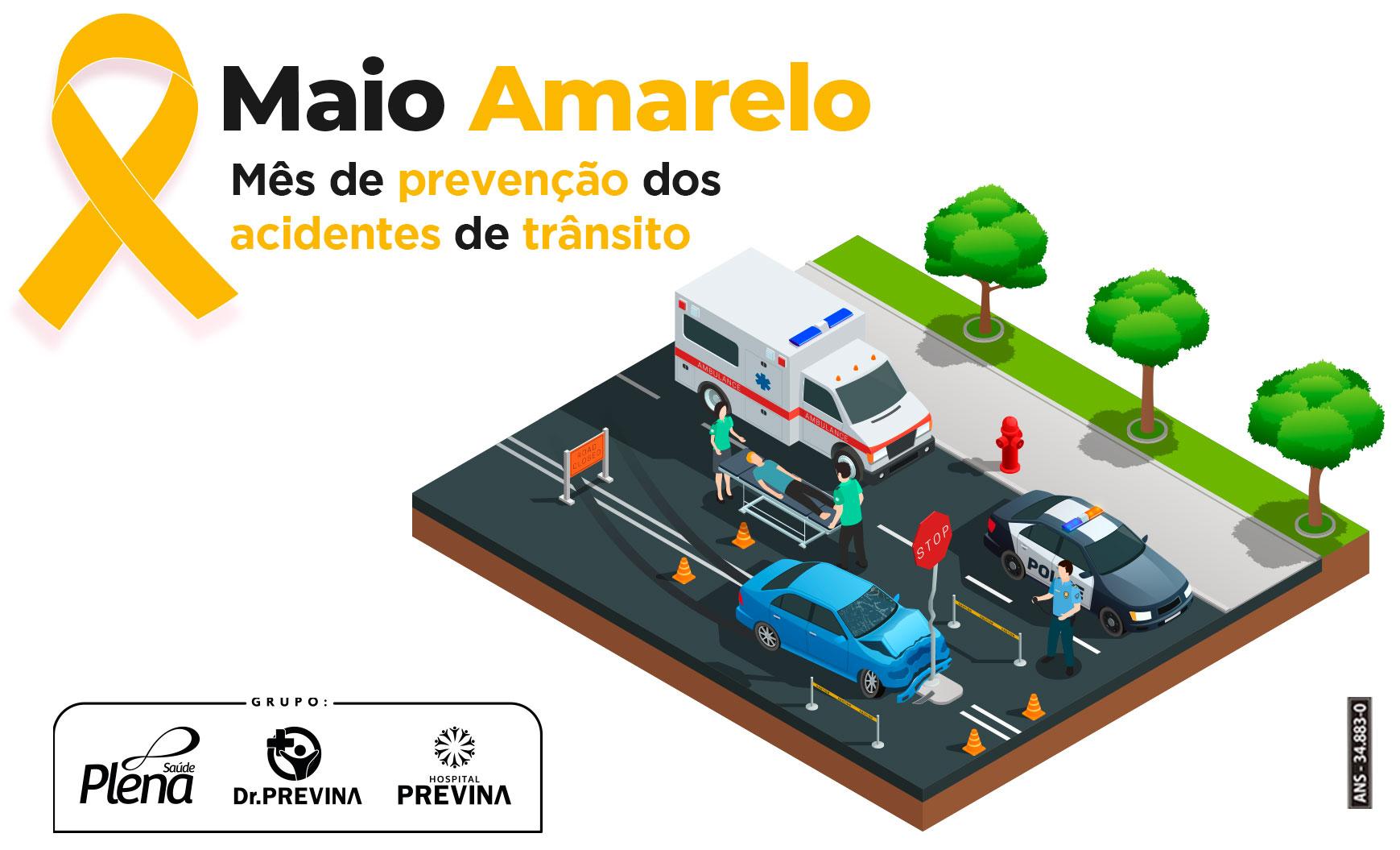 Maio Amarelo – Mês de prevenção dos acidentes de trânsito
