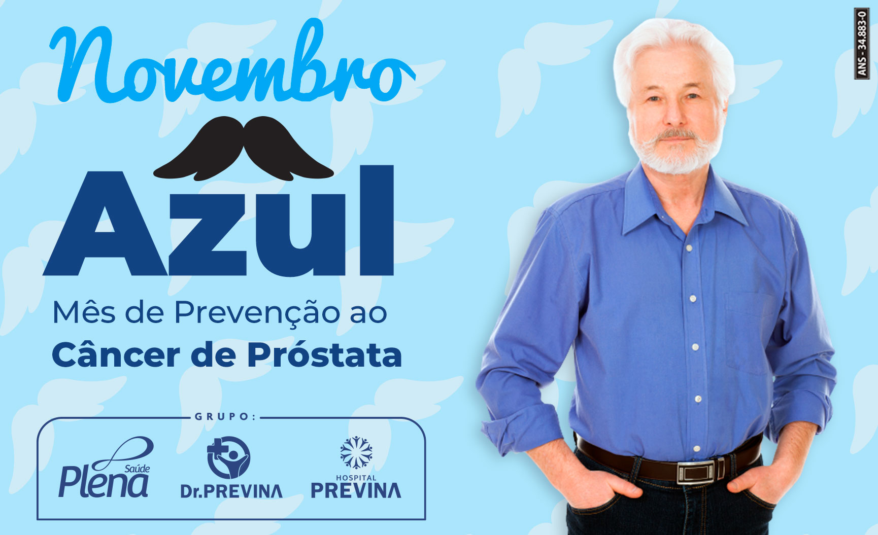 Novembro Azul – Mês de Prevenção ao Câncer de Próstata