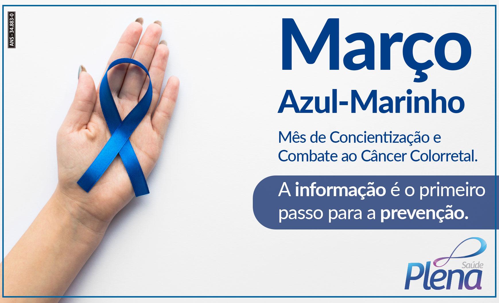 Março Azul Marinho – Mês de Conscientização ao Câncer Colorretal