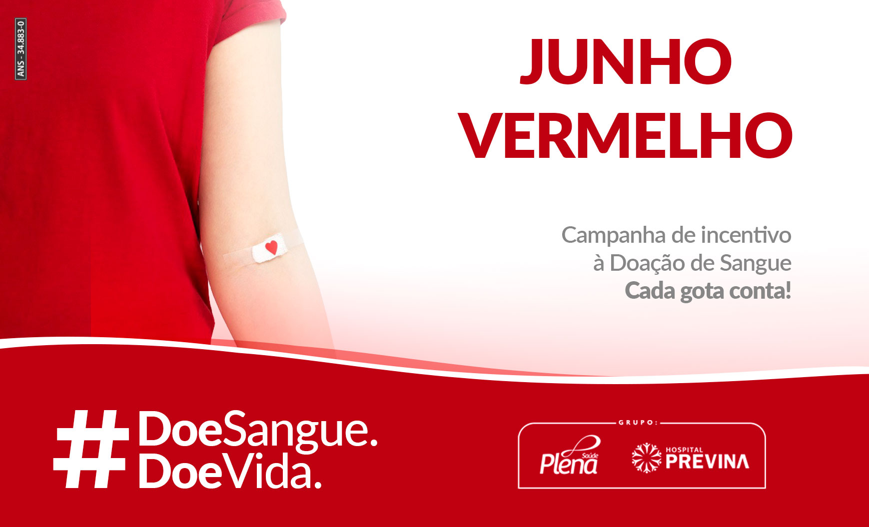 Junho Vermelho – Mês da Doação de Sangue